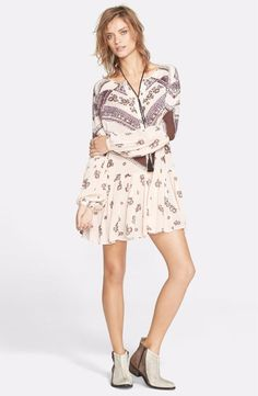 Free People XS Rayon Gauze From Your Heart Dress Tea Combo FTC #3463