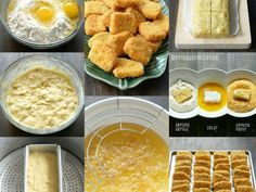 Nugget Pisang recipe step 1 photo Indonesian Desserts, Asian Desserts, Indonesian Food, Indonesian Recipes, Savory Snacks, Yummy Snacks, Yummy Food, Seafood Recipes, Cooking Recipes