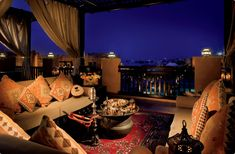 Shisha Terrace--Rooftop Terrace Overlooking the Resort and Arabian Gulf