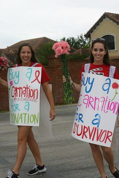Love this one! Buy a carnation for a Survivor    IMG_8576 by smanny70, via Flickr #relayforlife