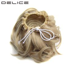 [DELICE] Women's Elastic Drawstring Clip In Synthetic Hair Curly Chignon 60g/12cm