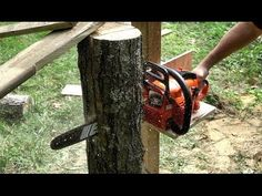 Making A Quick and Dirty VERTICAL Chainsaw Mill - YouTube