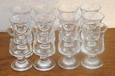 12 Vintage Holmegaard Ships Red Wine Glasses by Per Lutken (1916-1998)