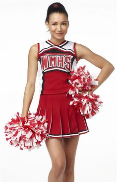 free shipping Ladies Costume Fancy Dress Up Red Cheerleader glee cheerleader costume without pompom-in Costumes from Apparel & Accessories o...