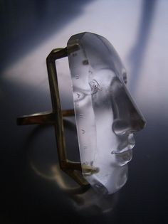 ☆ Carved Rock Crystal 18K Gold Ring :¦: Artist Shinji Nakaba ☆