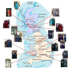 Location of old Police Boxes in the UK. Hello TARDIS!