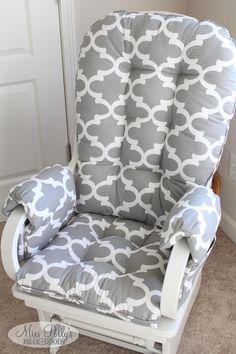 Custom Chair Cushions/ Glider Cushions/ Rocking Chair Cushions WITH Glider Arm Rests
