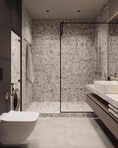 New Bathroom Designs, Bathroom Design Inspiration, Bathroom Design Luxury, Wc Bathroom, Moroccan Bathroom, Modern Bathroom, Industrial Bathroom, Gray Interior, Home Room Design
