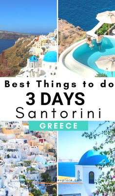 Wondering what to do in Santorini? Here are the best things to do in Santorini Greece for 3 days. Greece Honeymoon, Greece Vacation, Greece Travel, Greece Trip, Europe Travel Tips, Travel Usa, Places To Travel, Travel Destinations, Travel Guide