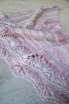 Susan B. Anderson - balm to the soul shawl in my handspun.