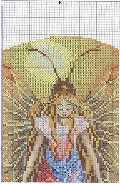 Fantasy Cross Stitch, Cross Stitch Fairy, Cross Stitch Angels, Butterfly Cross Stitch, Fantasy Figures, Elves And Fairies, Easter Cross, Magic Art, Cross Stitching
