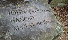 John Proctor, victim of the Salem, Massachuetts Witch Trials Witch Names, Wiccan Spell Book, Witch History, Salem Mass, Male Witch, Carlin, A Discovery Of Witches, Old Cemeteries, Season Of The Witch