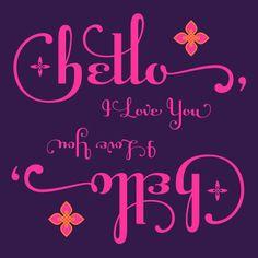 hello | Flickr - Photo Sharing! Raniscript: http://www.myfonts.com/fonts/stephen-rapp/raniscript/