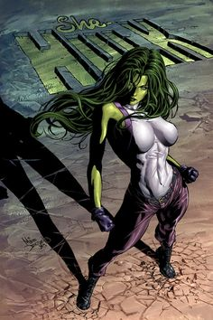 She-Hulk by Mike Deodato Jr.