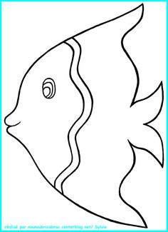 Animal Coloring Pages Fish Coloring Page, Animal Coloring Pages, Coloring Books, Fish Drawings, Art Drawings For Kids, Applique Patterns, Applique Quilts, Fish Template, Animal Templates