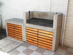 Barbecue Garden, Outdoor Barbeque, Backyard Barbeque, Patio Grill, Diy Grill, Outdoor Fireplace Designs, Backyard Fireplace, Backyard Kitchen, Outdoor Kitchen Design