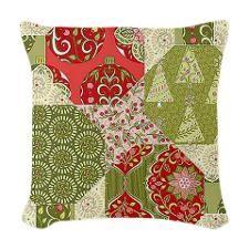 Christmas Quilt Pattern Woven Throw Pillow