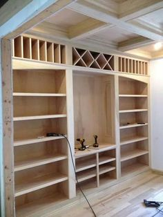 Built-in shelving unit Bookshelves Ideas BuiltIn shelving unit Bookcase Plans, Bookshelves Built In, Bookcases, Bookcase Shelves, Office Built Ins, Basement Remodeling, Home Renovation, Home Projects, Diy Furniture