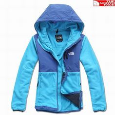 The North Face Denali Hoodie Jacket Women Blue Multi