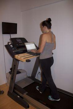Makes me want a treadmill  8)  Treadmill Desk