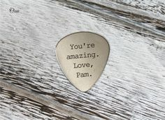 Engraved guitar pick by Oxee I pick you gift for him personalized guitar picks you are amazing