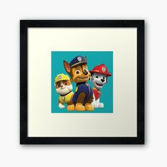 'Dog Paw Patrol ' Framed Print by StefaniaAlina Framed Prints, Art Prints, Dog Paws, Teenage Mutant Ninja Turtles, Paw Patrol, My Arts, House Design, Printed, Awesome