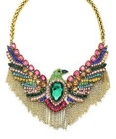 Green & Bronze Phoenix Necklace by Eye Candy LA #zulily #zulilyfinds