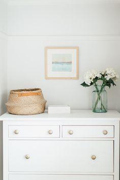 Belly Basket On Ikea Dresser - Elle's Modern Country Master Bedroom