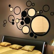 Wall decals are easy ways to create accent walls.  Don't want to put a decal directly on your wall?  Put them on white (or painted any other color) canvas and hang like art!