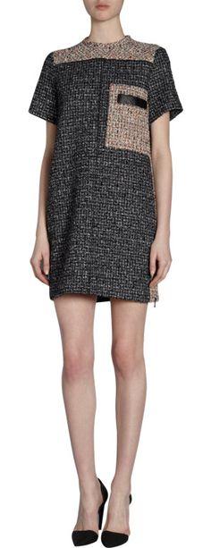 Proenza Schouler Short Sleeve Tweed Tunic Dress at Barneys.com