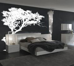 Large Wall Tree Decal Forest Decor Vinyl Sticker Highly Detailed Removable Nursery #1131 - InnovativeStencils