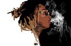 Wiz Khalifa by Bboy Design. Cartoon Art, Cartoon Characters, Pencil Drawing Tutorials, Rapper Art, Famous Movie Quotes, Most Beautiful Images, Hip Hop Art, Wiz Khalifa, Colorful Wallpaper