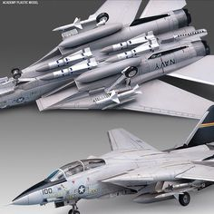 [Academy] 1/72 F-14A TOMCAT Plastic Model Kit 12471 #ACADEMY