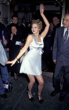 The time she channeled Cher Horowitz by wearing a satin empire-waist dress and patent leather shoes: