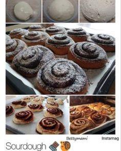 Kovászos kakaós csiga éjszakai hűtős kelesztéssel | Betty hobbi konyhája Hobbit, Doughnut, Muffin, Breakfast, Food, Morning Coffee, Essen, Muffins, Meals