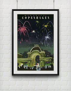 Denmark Wonderful Copenhagen Vintage Travel by VIVIDEDITIONS