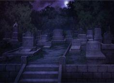 Cemetery, Scenery, Background, Anime Background, Anime Scenery, Visual Novel…