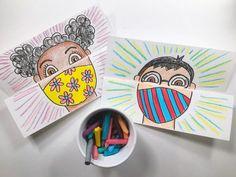 Arte Elemental, Back To School Art, High School, Primary School Art, Art School For Kids, School Ideas, Classe D'art, Self Portrait Art, Cassie Stephens