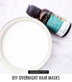 Do you know what's the best time to put on hair mask-when you're sleeping. Yes, overnight is the best time to treat and pamper your...