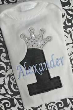 birthday shirt for prince themed party Prince Birthday Party, King Birthday, Prince Party, 1st Birthday Parties, Birthday Ideas, 1st Birthday Shirts, Baby Boy First Birthday, Knight Party, Twins 1st Birthdays
