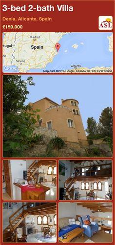3-bed 2-bath Villa in Denia, Alicante, Spain ►€159,000 #PropertyForSaleInSpain