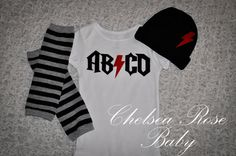 Baby boy outfit ACDC style band logo first by ChelseaRoseBaby, $34.00