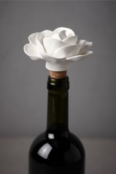 bhldn wine stopper.  cute...too bad i never leave any wine in the bottle...