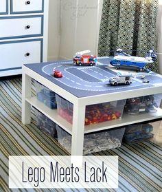 Lego+road+plates+++IKEA+Lack+table