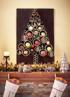 33 Cool Wall Christmas Tree Ideas For Your Home - EcstasyCoffee