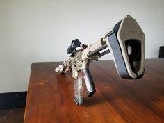 Wood 300 Blackout Pistol Build 300 Blackout Pistol, Ar Pistol Build, Ar 15 Builds, Custom Guns, Guns And Ammo, Bullets, Tactical Gear, 50 Shades, Arrows