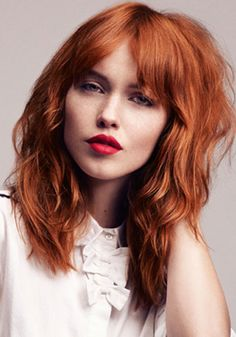 Love this style, but I wouldn't have the courage to go ginger because I know it would end up going wrong..