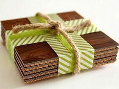 Very cool coasters from laminate flooring! [this month, all laminate flooring is 25 cents a board/tile! Cool Coasters, How To Make Coasters, Wooden Coasters, Custom Coasters, Laminate Flooring Diy, Cork Flooring, Flooring Ideas, Wood Laminate, Modern Flooring