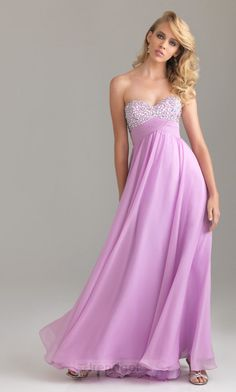 Charming A-line Sweetheart Floor-length Chiffon Pink Prom Dresses - $114.99 - Trendget.com
