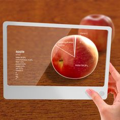 Just like the video we watched in class today. This shows the nutrients an apple has. It is amazing how far we can potentially accomplish with technology.